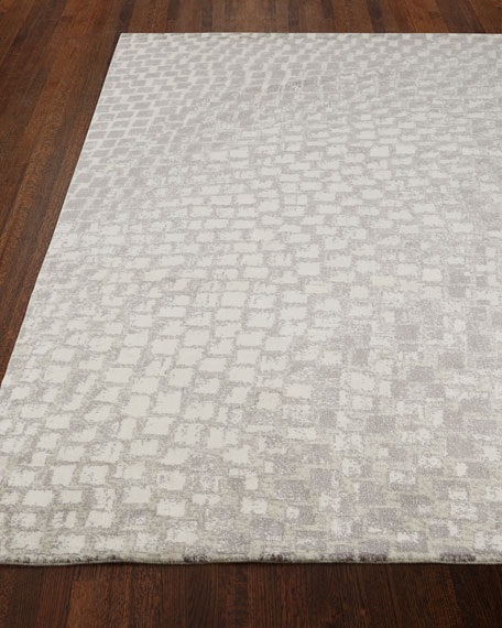 "Image 1 of 3: NourCouture Cream Tile Rug, 9'9"" x 13'9"""