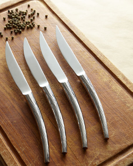 Hampton Forge Stag Steak Knives, Set of 4