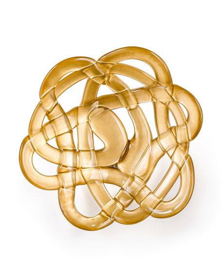 Orrefors Kostaboda Small Golden Basket Bowl