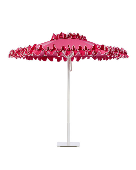 Pink Petite Flamenco Market Umbrella