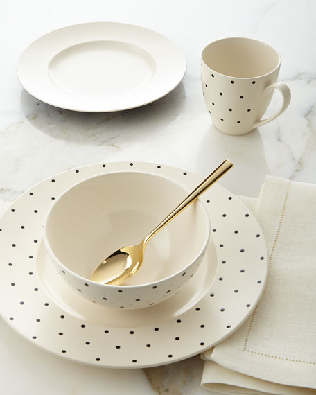 kate spade new york 4-Piece Larabee Dot Dinnerware