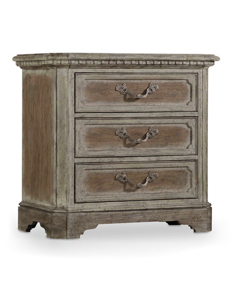 Hooker Furniture Cortina Three-Drawer Nightstand