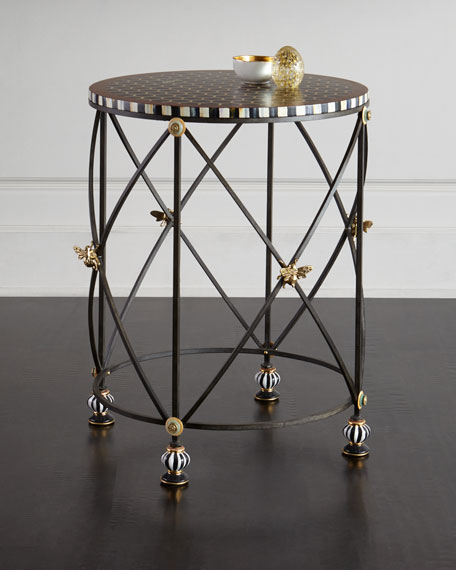 MacKenzie-Childs Honeycomb Accent Table