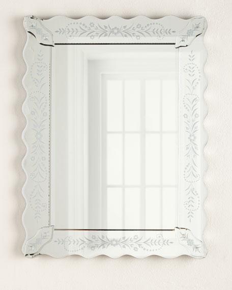 Petite Fleur Venetian-Style Mirror