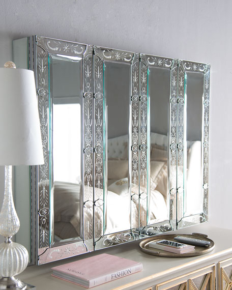 Ordinaire Image 2 Of 3: Venetian Style Mirrored Flat Screen TV Wall Cabinet