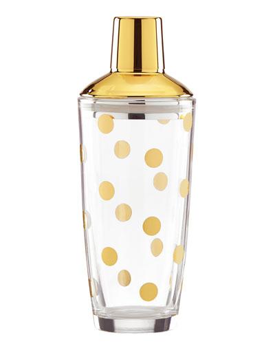 Gold-Dot Cocktail Shaker