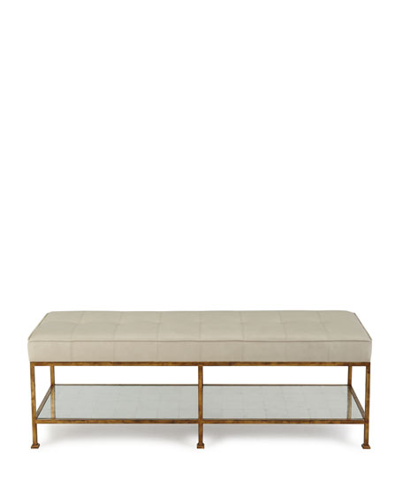 Image 2 of 2: Maxine Biscuit-Tufted Bench