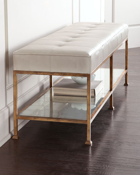 Image 1 of 2: Maxine Biscuit-Tufted Bench