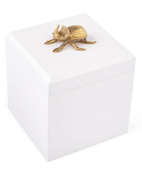 Global Views Box: Global Views Beetle Handle Decorative Box
