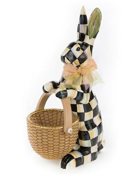 Courtly Check Rabbit Figure