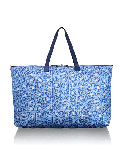 Voyageur Just in Case Moroccan Blue Tile Travel Duffel
