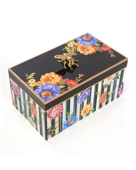 Cutting Garden Black Keepsake Box