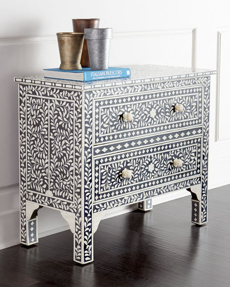 Neimanmarcus Bret Bone-Inlay Chest