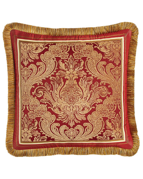 "San Marino Fringed Pillow, 20""Sq."
