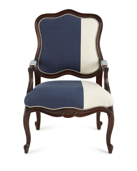 Image 2 of 3: Massoud Michael Colorblock Bergere Chair