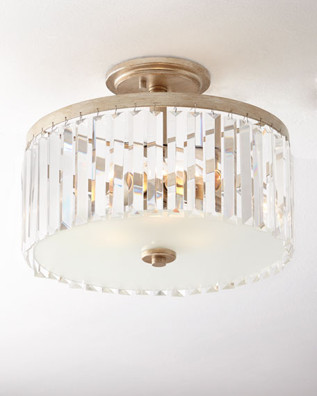 Intrigue crystal semi flush mount neiman marcus