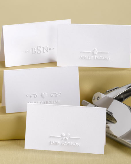 Personalized Place Card Embossers