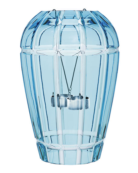 Saint Louis Crystal En Cage Two-Candle Hurricane