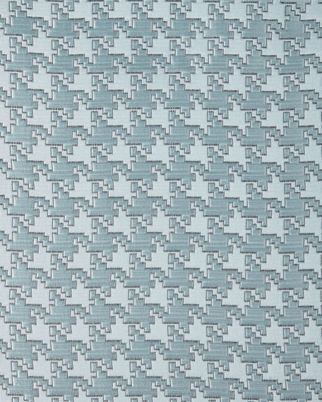 Queen Houndstooth Check Coverlet