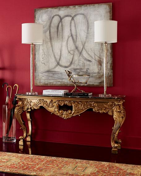 Golden Mercury-Glass Candlestick Lamp