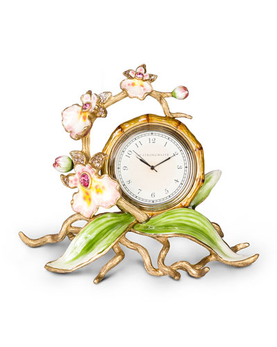 Orchid Clock