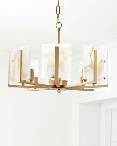 Halo 8-Light Alabaster Chandelier