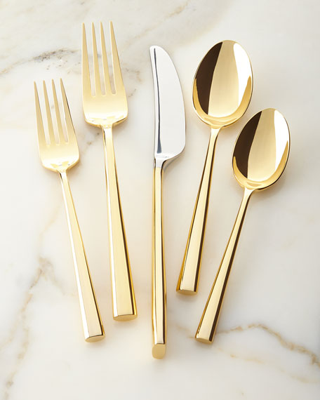 kate spade new york5-Piece Malmo Gold Flatware Place