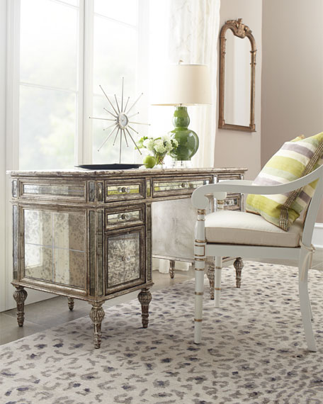 Sheridan Mirrored Desk Neiman Marcus