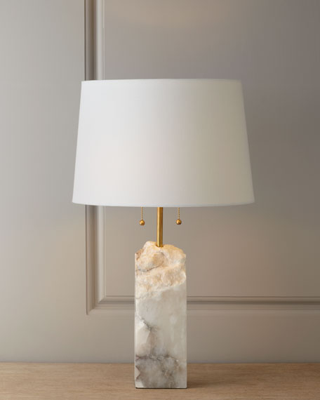 Raw Alabaster Lamp