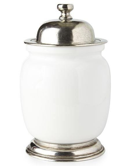 ValPeltro Medium Ceramic & Pewter Canister