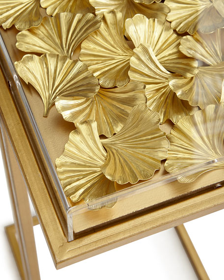 Gilded Gingko Cocktail Table