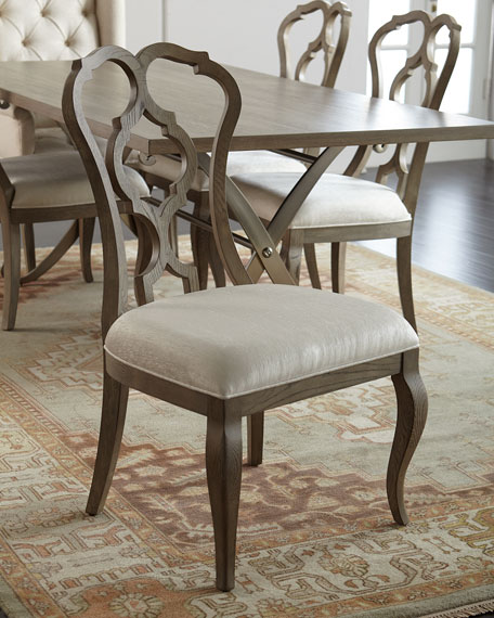 Image 1 of 3: Bernhardt Gant Side Chairs, Pair