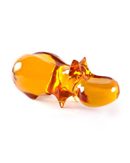 Acrylic Hippo Statue