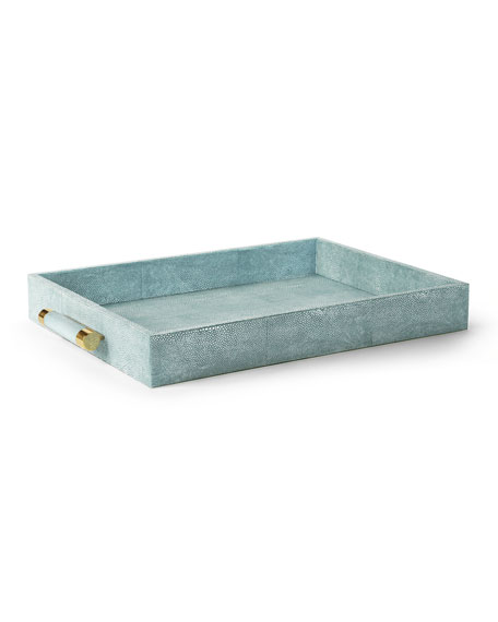 AERIN Classic Faux-Shagreen Serving Tray