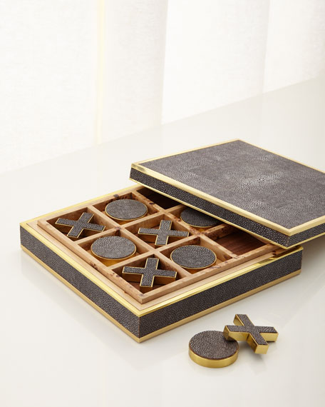 Chocolate Shagreen Tic Tac Toe