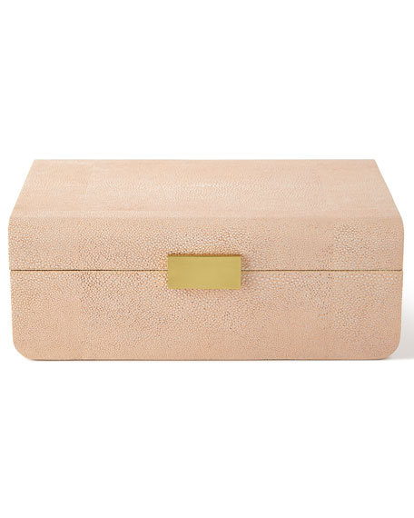 AERIN Blush Modern Shagreen Decorative Boxes & Matching