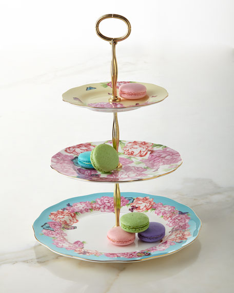 Miranda Kerr For Royal Albert 3 Tier Sweet Stand Neiman