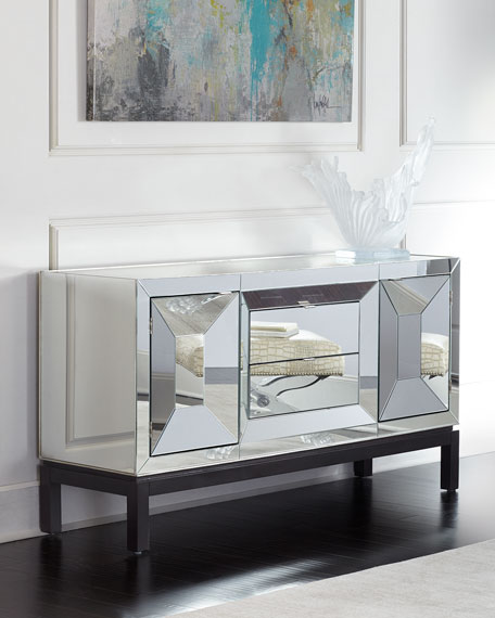Timandra Mirrored Buffet Neiman Marcus