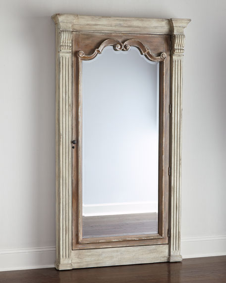 Image 1 Of 4 Furniture Meara Jewelry Storage Mirror