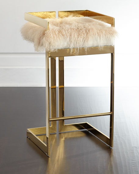 Imperial Sheepskin Barstool Neiman Marcus