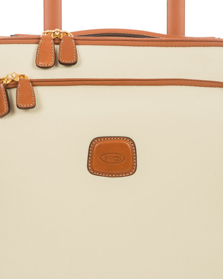 """Firenze Cream 21"""" Carry-On Spinner Luggage"""