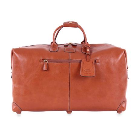 """Bric's Pelle Cognac 22"""" Cargo Duffel Luggage"""