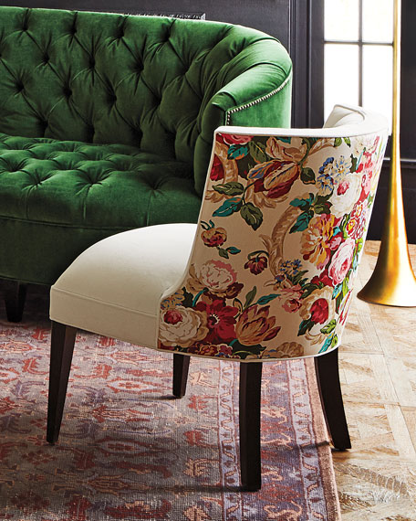 Image 2 of 6: Haute House Tiffany Floral Chair
