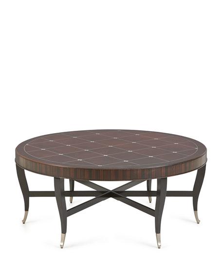 caracole skylark round coffee table. Black Bedroom Furniture Sets. Home Design Ideas