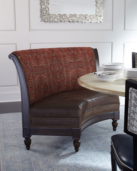 Cayenne Leather Banquette