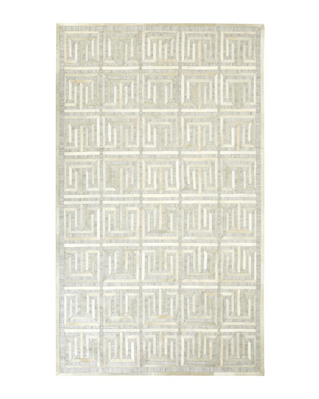 Exquisite Rugs Sterling Greek Key Rug & Matching