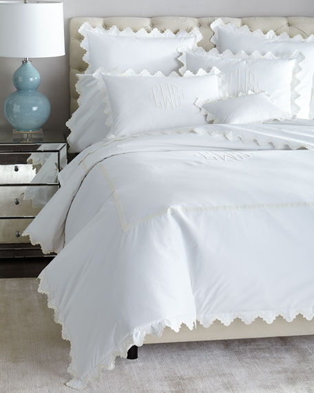Matouk Full/Queen Elora Duvet Cover, Plain
