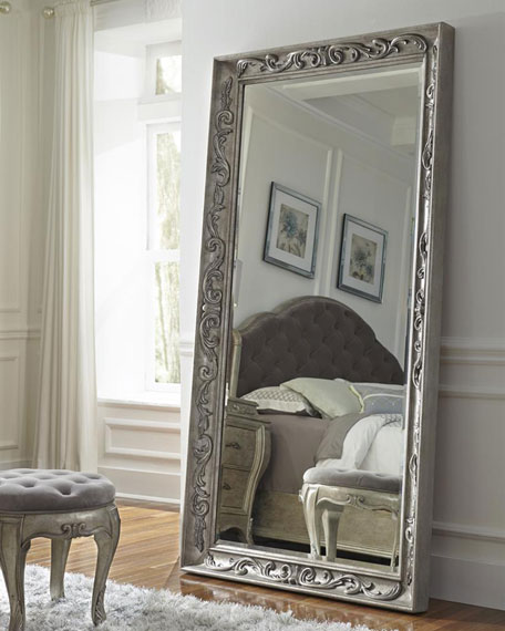 Bella terra floor mirror neiman marcus for Framed floor mirror