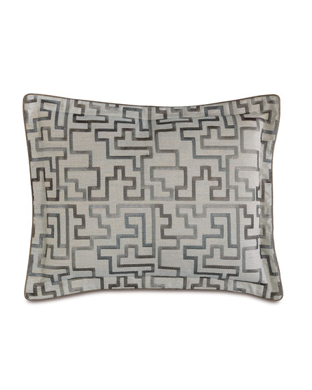 Eastern Accents Prosecco Stone Standard Embroidered Pillow