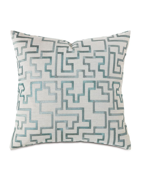 "Eastern Accents Central Park Fretwork Pillow, 22""Sq."
